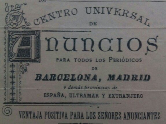 Roldós, Centro Universal de Anuncios. Fundada en Barcelona hace más de 130 años, en 1871, y aún sigue funcionando #roldos #lottussecuidalapublicidad #agenciadepublicidad #publicidadantigua #publicidad