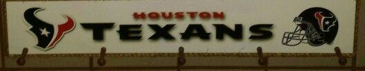 Houston Texan hat rack.