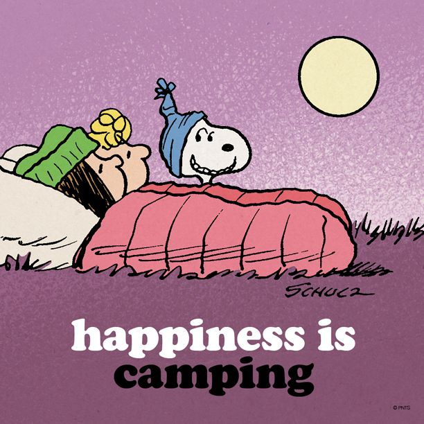 Happiness is camping. Snoopy