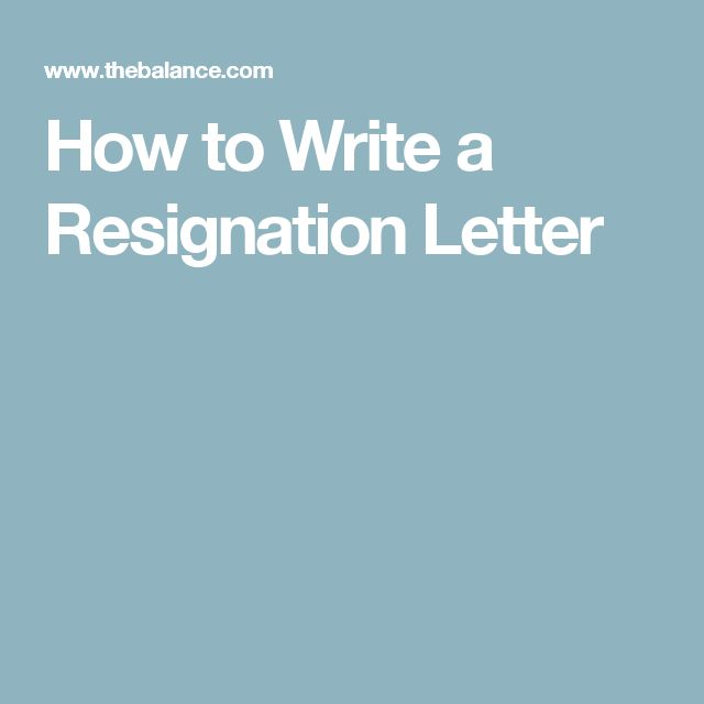 Best 25+ How to write a resignation letter ideas on Pinterest - quick tips writing resignation letters