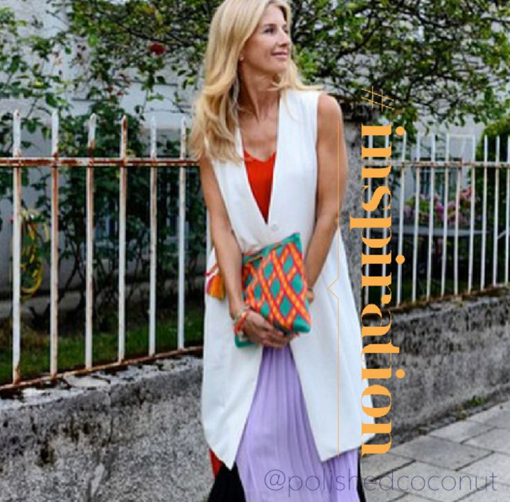 Another style inspiration featuring a #polishedcoconut clutch