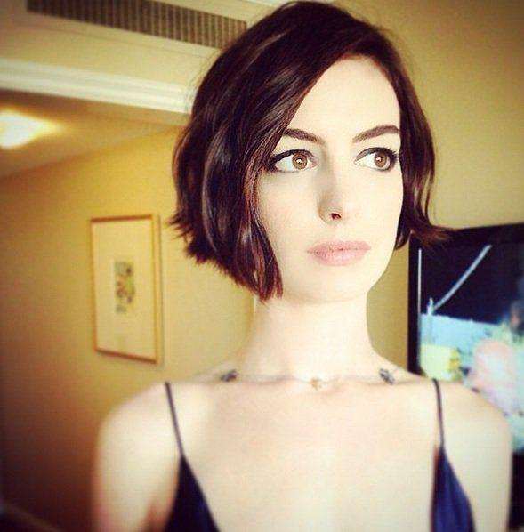 Anne Hathaway Lob: 17+heerlijke+frisse+korte+bobjes+voor+een+kapsel+met+pit