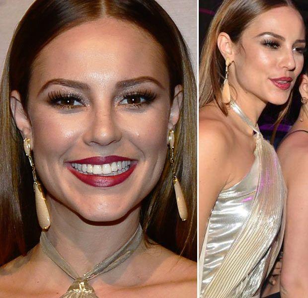 A maquiagem das atrizes da festa da novela Amor à VidaPausa para Feminices