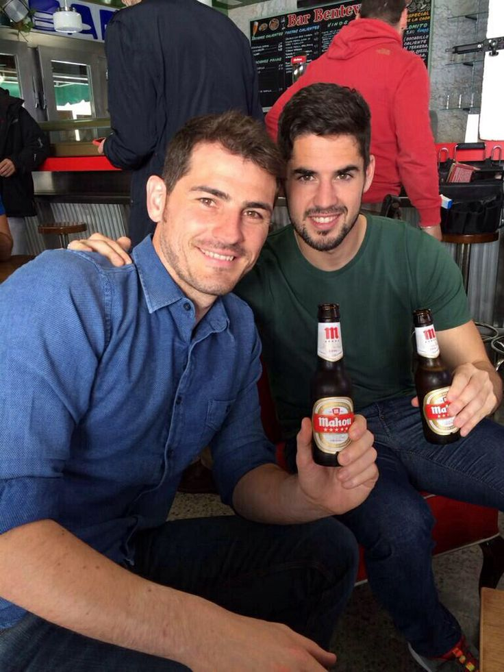 Photo of Isco & his friend football player  Iker Casillas - teammate