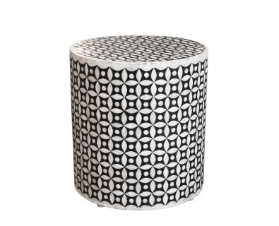 Bone Inlay Stool Eye Design R2 995 ACCIND0817 L360mm | W360mm | H380mm