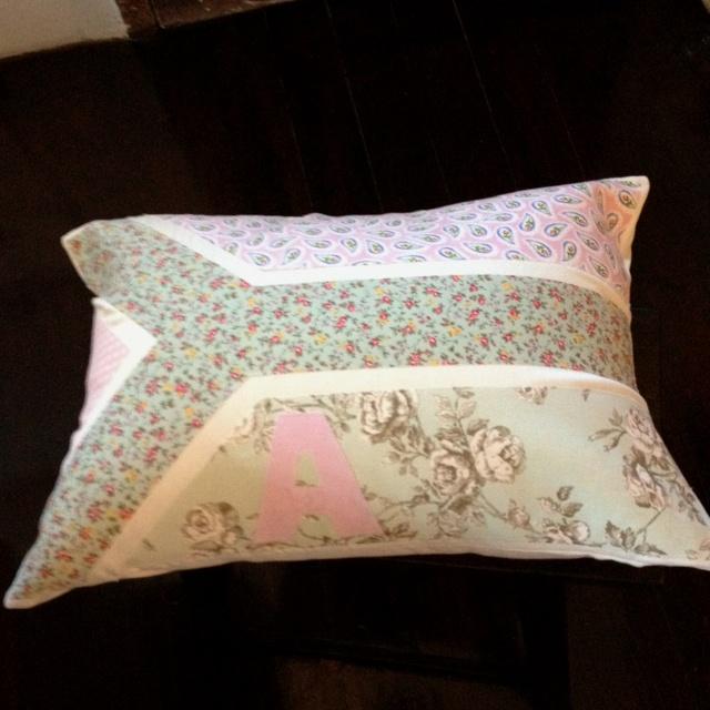 Green & Pink SA Flag cushion