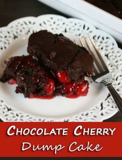 Chocolate Cherry Dump Cake ~ only THREE ingredients! | The Happy Housewife