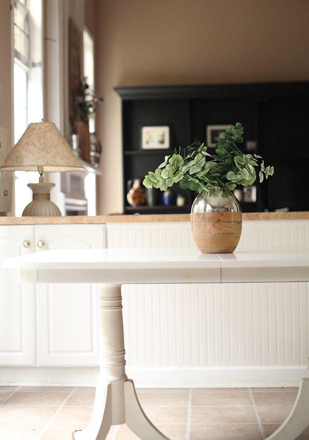 Use Cabinet Enamel Paint To Makeover Furniture! @valspar. Kitchen ...