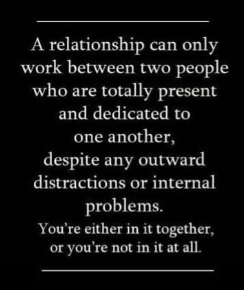 ❥ A relationship can only work...