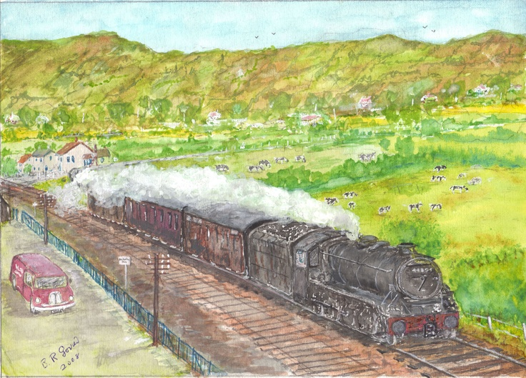 Locomotive by Brian Randolph GovierA Railroad, Randolph Govier, Indústria Ferroviária, Brian Randolph, Steam Training, Brian Painting, Steam Engineering
