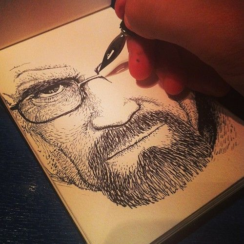 #drawing the Walter White #BreakingBad
