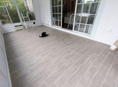 Reader redesign endless summer plank woods and sunroom for Fake hardwood tile