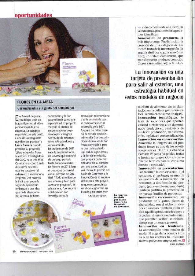 Flores en la mesa en Revista Emprendedores