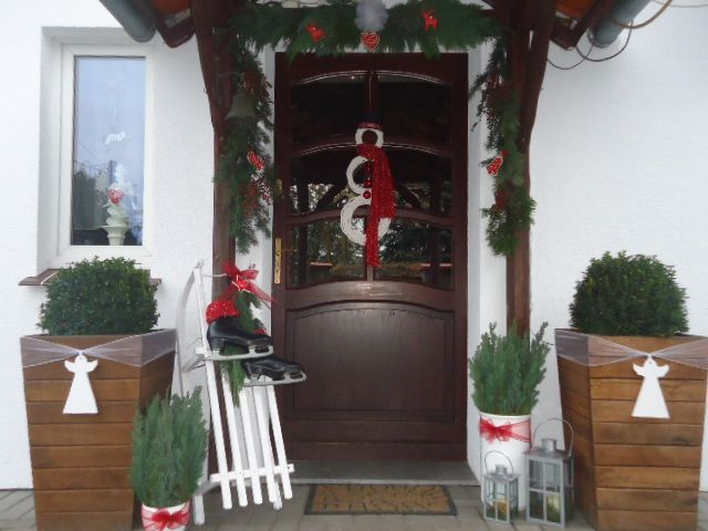 Christmas decorations front door  Xmas 2015