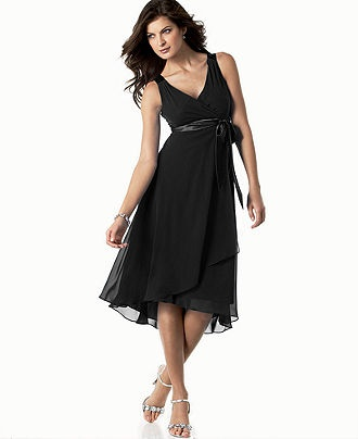 Evan Picone Dress, Sleeveless Satin Tie - Womens Dresses - Macy's (Mother's)  Get a cropped jacket or sweater