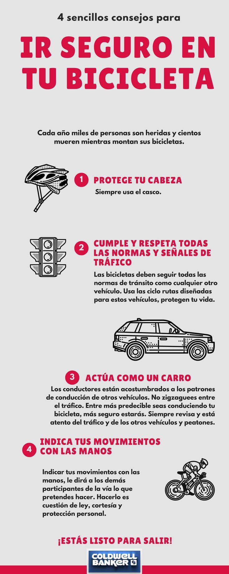 La bicicleta es el mejor medio de transporte para ti y el planeta, Coldwell Banker te da algunos consejos para tu seguridad. #cbcolombia