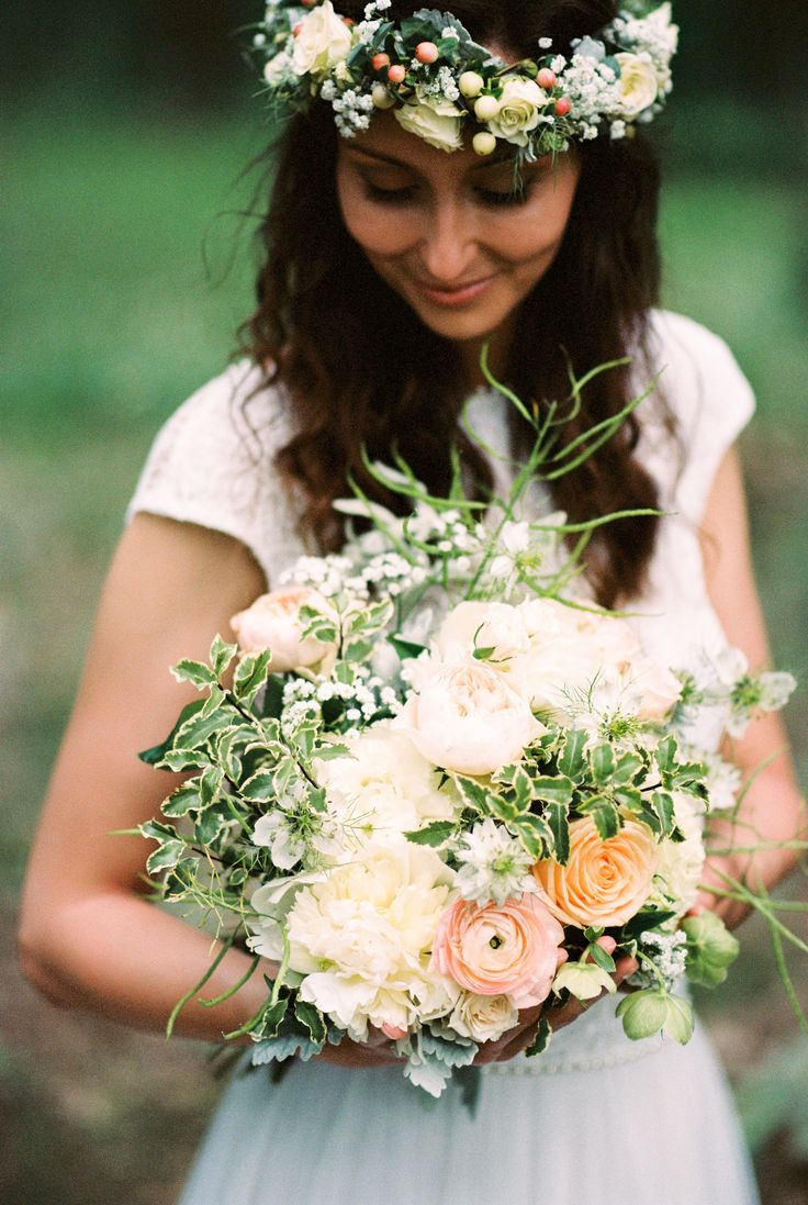 Lovely bride with her boquet