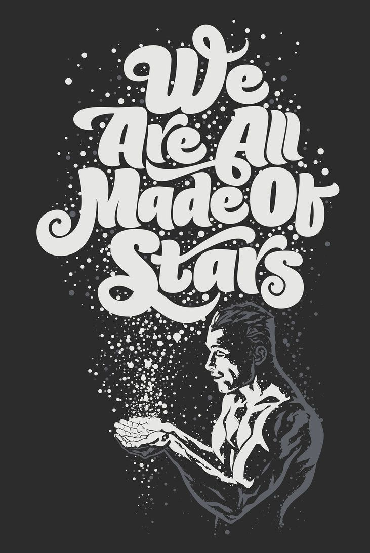We Are All Made Of Stars by ~Rusc.  This was kind of the idea behind the origins of the gods.