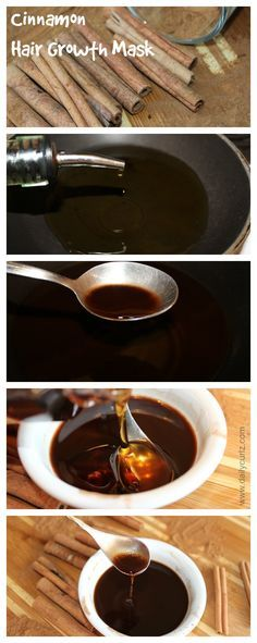 DIY hair Growth mask....Cinnamon is a spice that we normally use in the kitchen, but did you know that you can stimulate hair growth with cinnamon? click for the full recipe