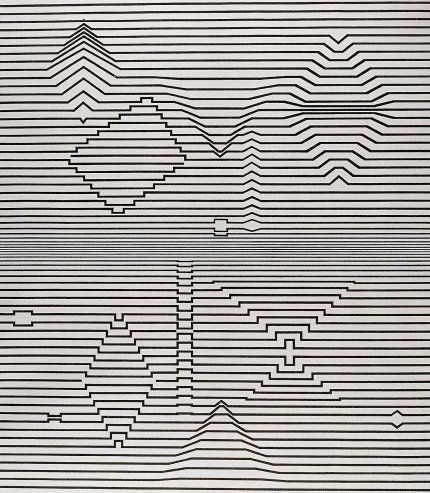 Naissance - Victor Vasarely.  http://www.artexperiencenyc.com/social_login