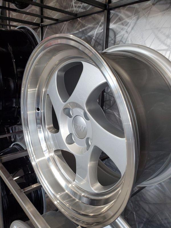 Close Out Limited Quantities 15 8 4 100 Et20 Silver Wheels With Lip Fithonda Civic Crx Mazda Miata Versa Vw4 Lug For Sale In Tempe Az Offerup Mazda Miata Miata Wheel