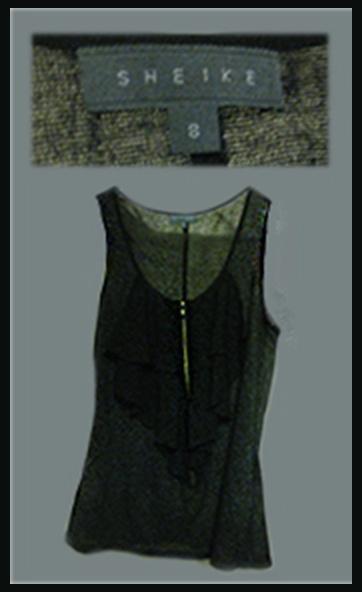 Sheike #Grey frilled Zip-up. Size: 8, $10. FOR SALE #fashion #shop #sale #designer #apparel #special