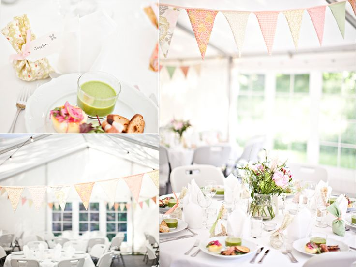 diy wedding + decorations + wedding inspiration + buntings