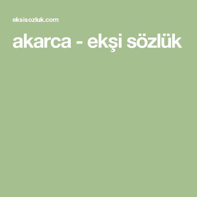 akarca - ekşi sözlük