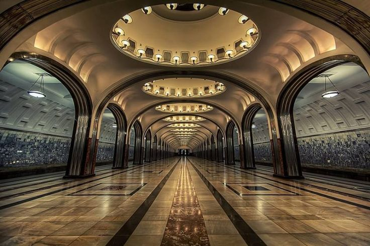 Mayakovskaya And Park Pobedy Stations, Moscow, Russia (Flickr  Modato Gms)