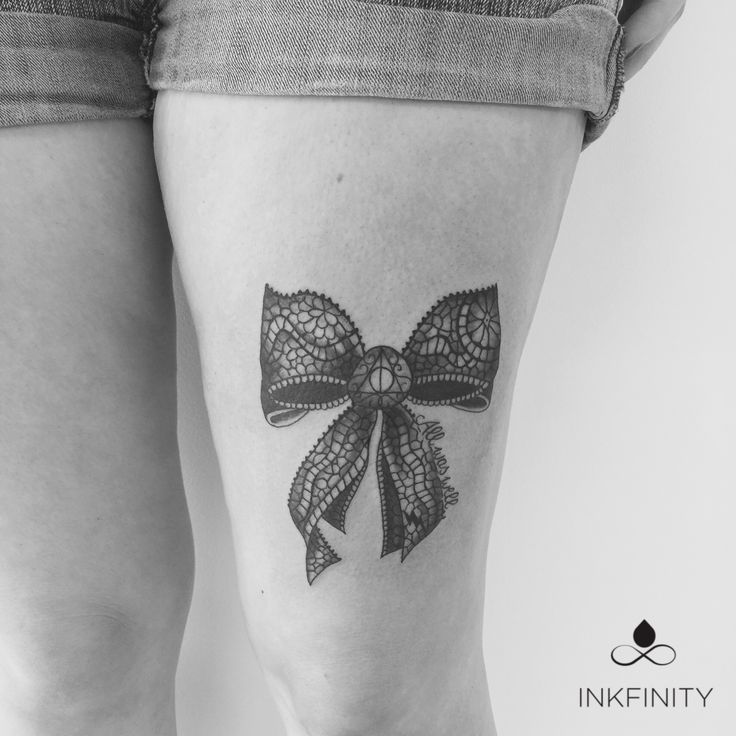 Lace bow tattoo and Harry Potter   #inkfinity #tattoo #ink #tattooartist #tattooshop #Herentals