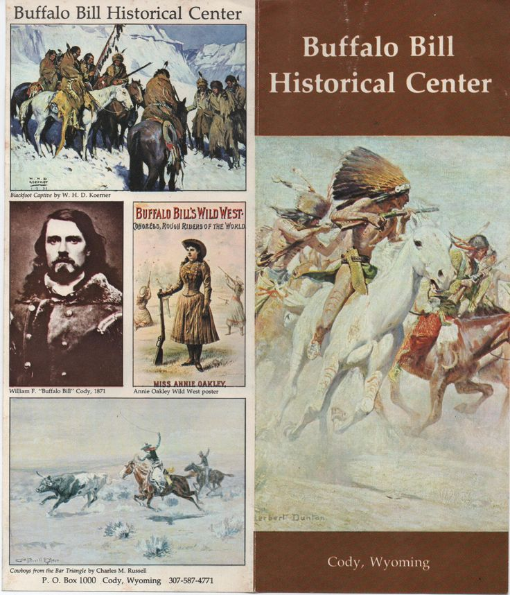 2 brochures of Buffalo Bill Historical Center, Cody, Wyoming, c1970s, good shape, Whitney Gallery, Plains Indian Museum by VintageNEJunk on Etsy