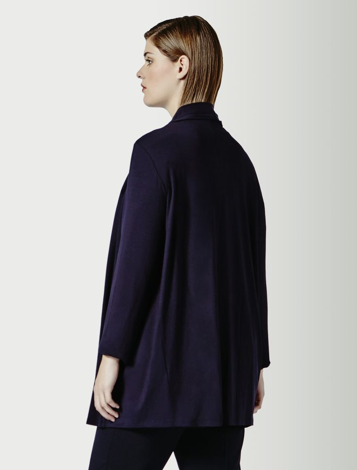 Marina Rinaldi OLGA blu marino: Cardigan in jersey stretch.