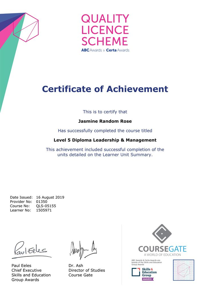 certificate endorsed diploma abc accreditation awards coursegate order psychology child advanced care sample