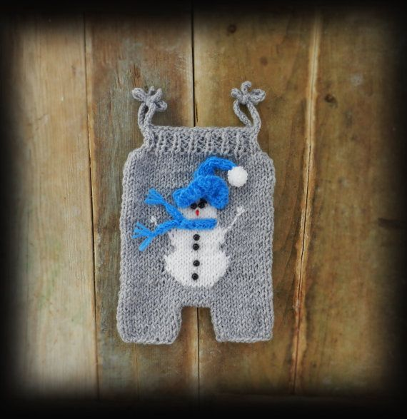 Blue Baby Snowman Outfit/ Baby Christmas by GabriCollection