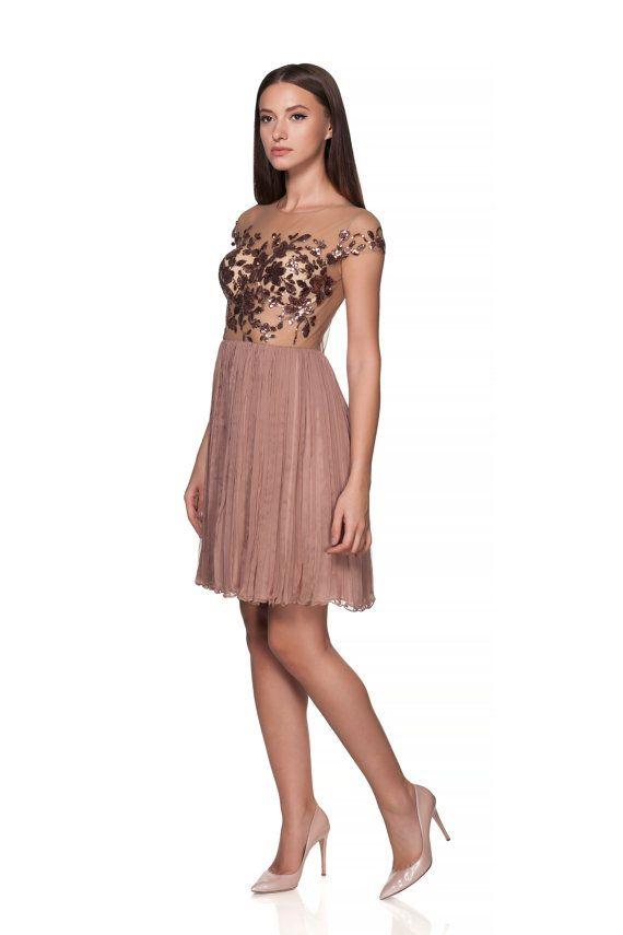 Short silk engagement gown - short wedding dress - Prom dress - Wedding dress - pleated dress silk boho - bridesmaid dress