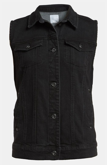 An everything topper  Leith Sleeveless Denim Jacket available at Nordstrom