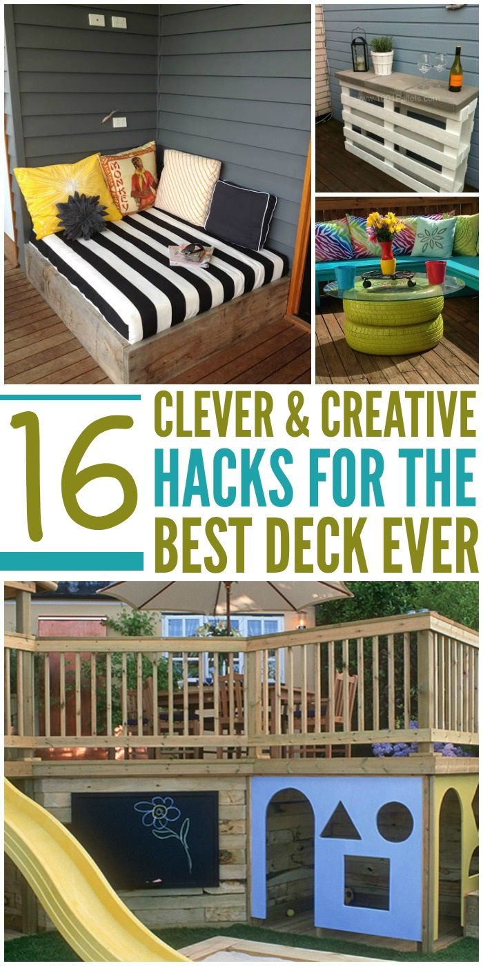 15 Deck Ideas for an Amazing Outdoor Space - Brilliant decks for any home! Click to see all the creative ideas!