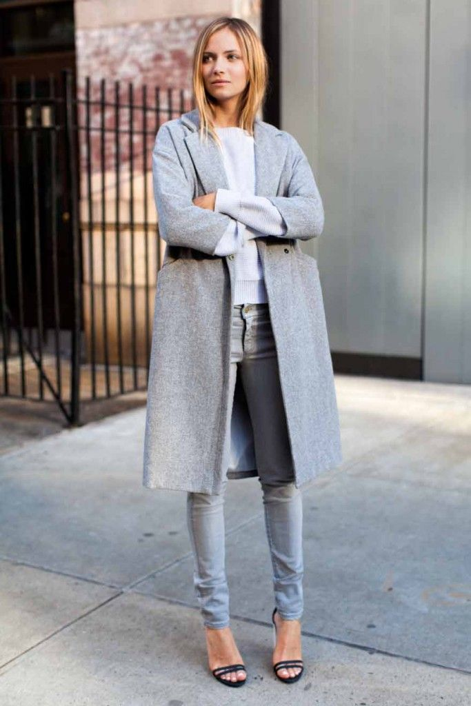 Best 25 grey coats ideas on pinterest white pants for Que porter avec du gris