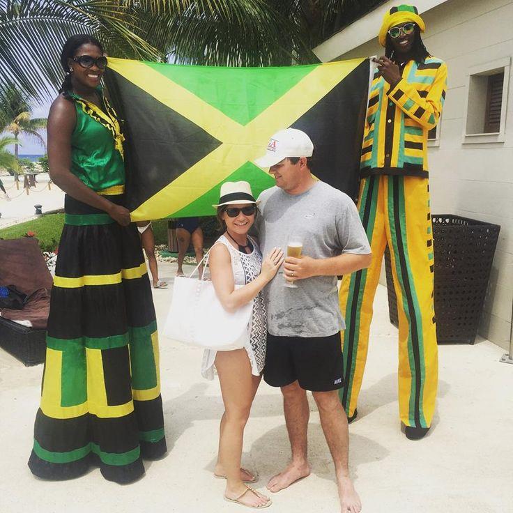Yeah mon... traveling through Montego Bay Jamaica on our honeymoon! :) Life & Lattes | Travels | Newlyweds | Summer Weather