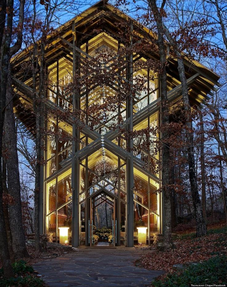 This glass church in the woods is breathtaking