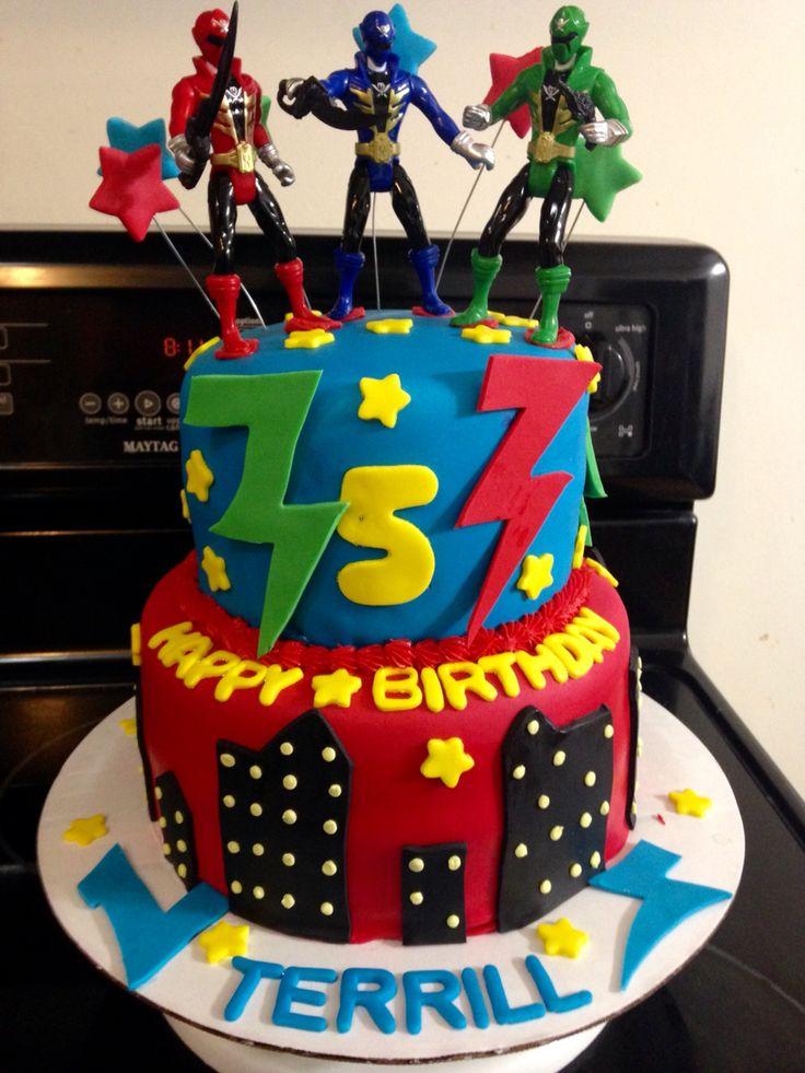 Power Rangers Cake Our Custom Cakes Pinterest Power