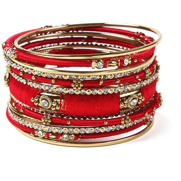 Ankara Bangle Set ($75) ❤ liked on Polyvore featuring jewelry, bracelets, amrita singh, amrita singh jewellery, amrita singh jewelry and amrita singh bangles