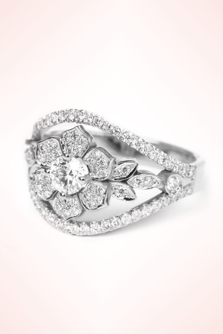 Nice Lily garden unique diamond engagement ring