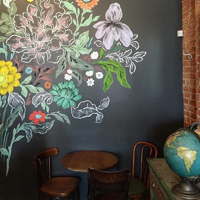 25 Amazing Chalkboard Wall Paint Ideas: Best 25+ Flower Mural Ideas On Pinterest
