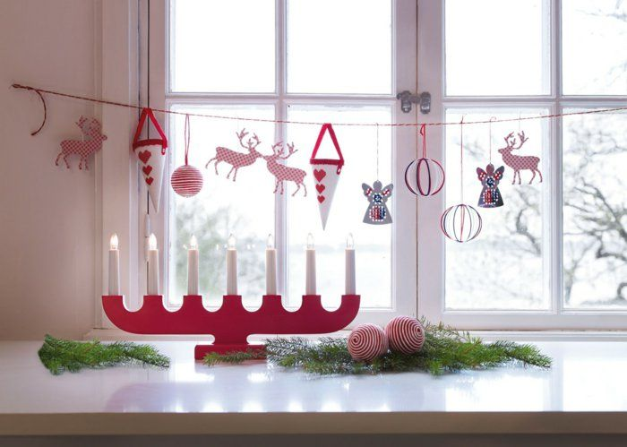weihnachtliche Tischdeko aus Papier basteln
