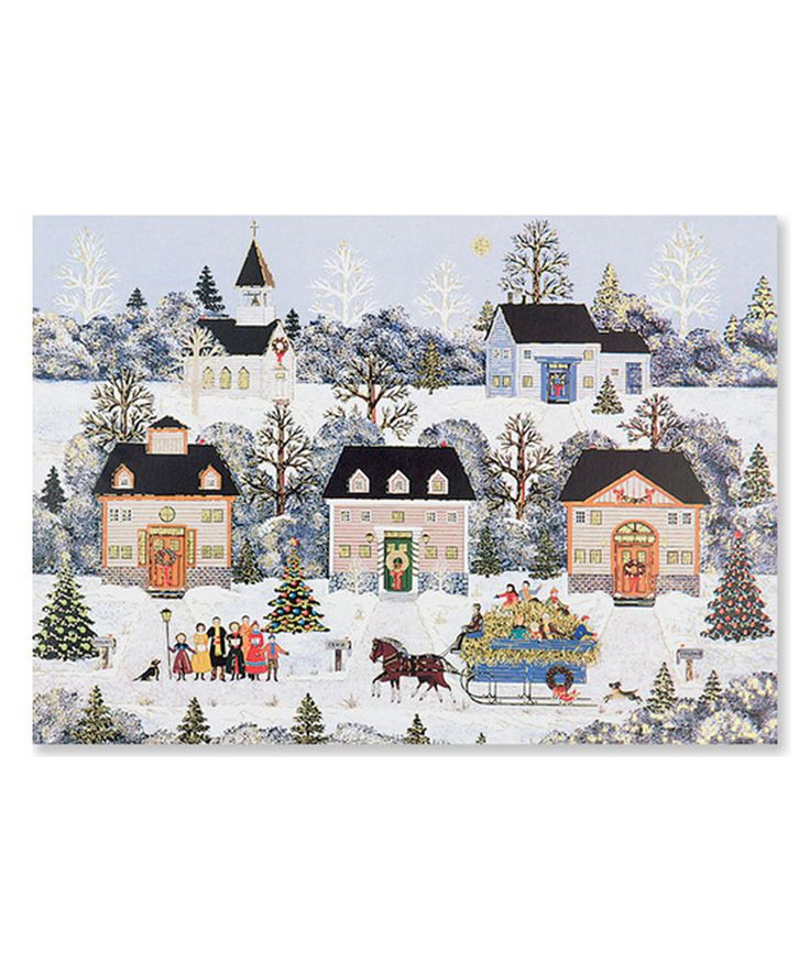 Love this Holiday Sleigh Ride Card Set by Peter Pauper