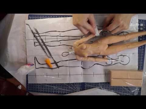 Шарнирная кукла своими руками с нуля часть 5 как лепить руки - YouTube