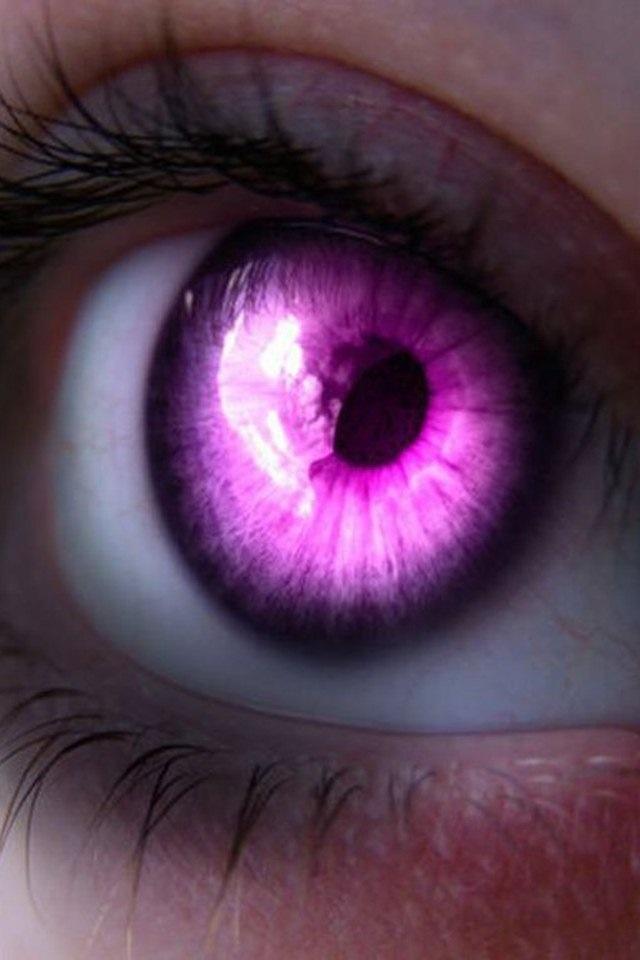 розовые глаза картинка это ввиду