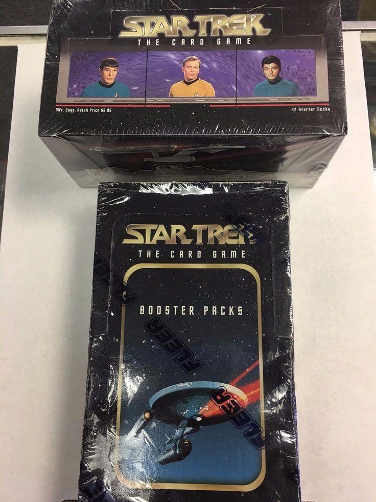 CCG Sealed Booster Packs 183456: 1996 Fleer Star Trek Original Ccg Starter And Booster Box Factory Sealed Unopened -> BUY IT NOW ONLY: $49.95 on eBay!