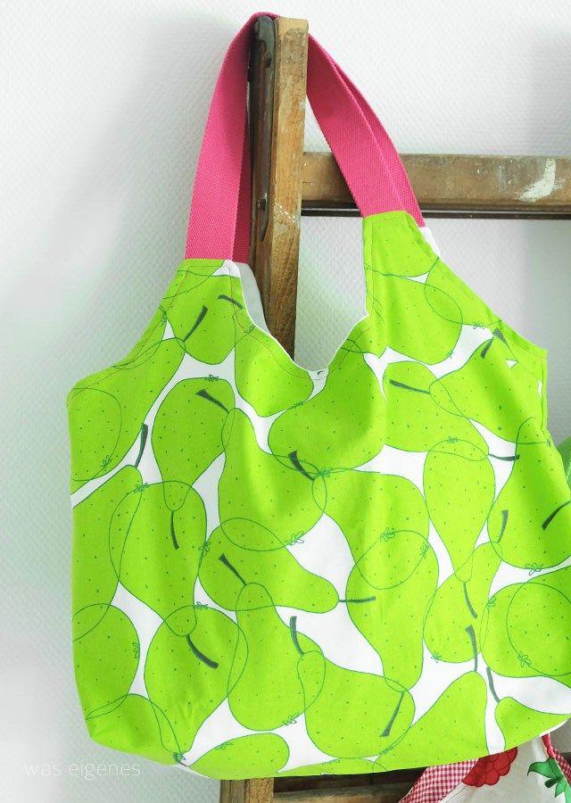 DIY Charlie Bag mit Gurtband und Futter | Ikea Stoff | was eigenes Blog
